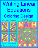 LINEAR EQUATIONS: WRITE EQUATIONS OF PARALLEL/PERP. LINES #1 - COLORING ACTIVITY