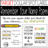 Write My Name Inserts - Perfect for Target Dollar Spot Adhesive Labels!