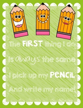 Write My Name Poster-Classroom Decor FREEBIE
