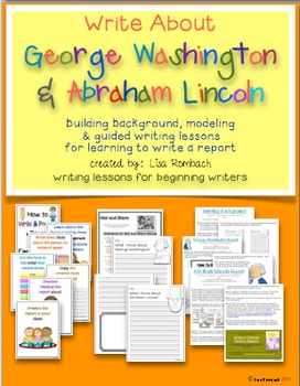 Write My Way lessons for beginning writers  February Bundle