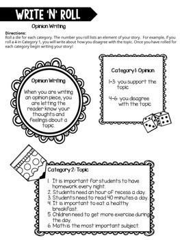 Write 'N' Roll Writing Centers