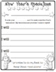 Write New Year's Resolutions Cloze Sentences Lesson Beginning Writers