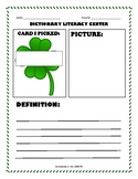 Write Now: Dictionary Library Center - March Shamrock
