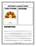 Write Now: Dictionary Library Center - Fall Turkey