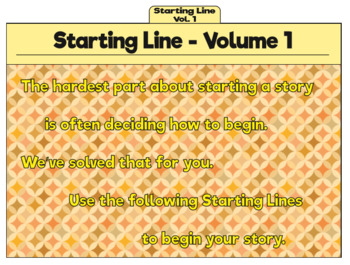 Write Now: Prompts for Creative Writing: Starting Line- Volume 1