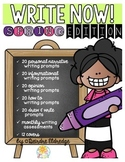 Write Now! Spring Edition- Daily Common Core Writing Prompts