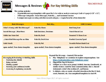 Write Now-daily practice for composition (no syntax struggles) MESSAGE etc Set B