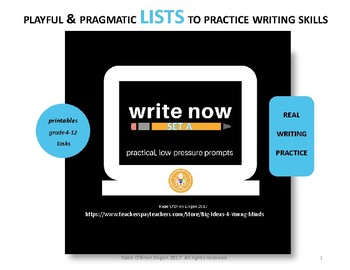 Write Now-daily practice for composition...no syntax struggles  LISTS Set A