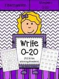 Write Numbers 0-20 Distance Learning