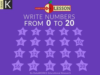 Write Numbers 0 to 20