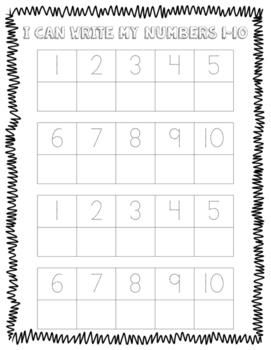 Write Numbers 1-10
