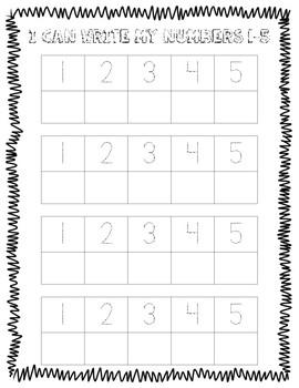 Write Numbers 1-5