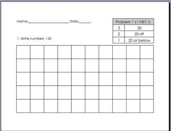 Write Numbers 1-50 Grid