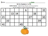 Write Numbers 1 to 50 Practice Fall Set