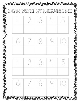 Write Numbers BUNDLE 1-5, 1-10 and 1-20!