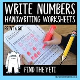 Write Numbers - Find the yeti