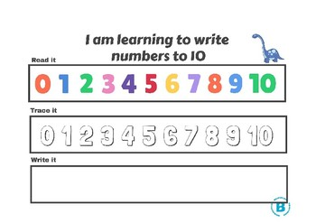 Write Numbers to 10 Activity Mat