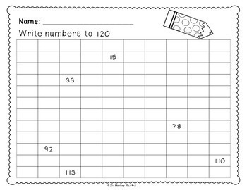 Write Numbers to 120