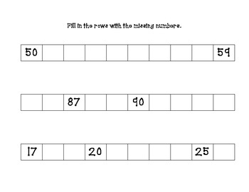 Write Numbers to 120 Rows