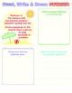 Write On! 12 Summer Worksheets for 1st grade