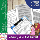 Writing Activities for a Month   Beauty and the Beast Seri