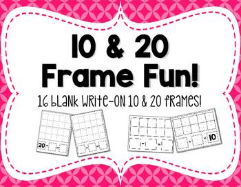 Write-On Blank Ten  &  Twenty Frames