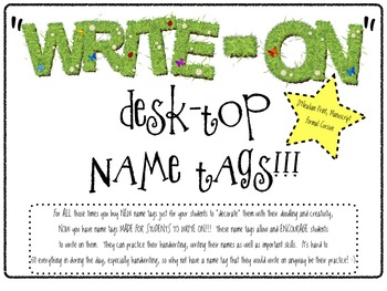 """Write-On"" Desk-Top Name Tags!! (with EDITABLE TEXT versio"