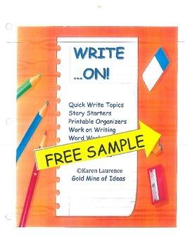 Write On!  ELA Work on Writing Word Work FREE