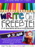 Write On! Fiction:  Pirate Hat Freebie