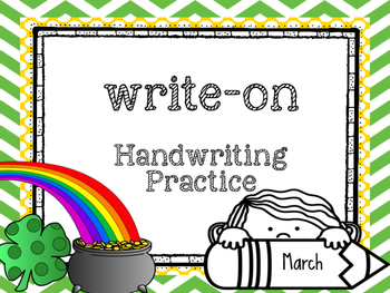 Write-On Handwriting and Sight word practice BUNDLE( August-May)