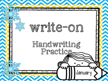 Write-On Handwriting and Sight word practice ( January) ( FRY LIST)