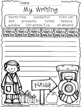 Write On! Hello Writing: A Fun Seasonal Sheet {North Pole Express Freebie}