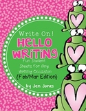 "Write On! Hello Writing: Fun Sheets for ""Work on Writing"""