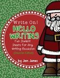 "Write On! Hello Writing: Fun Sheets for ""Working on Writin"