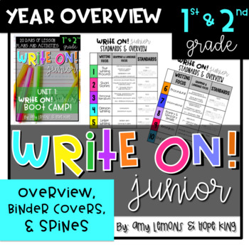 Write On!  Junior:  Year Overview, Binder Spines, and Notebook Covers