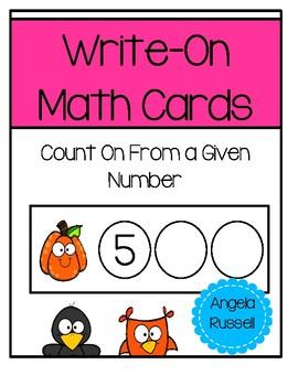 Write-On Math Cards K.CC.A.2 - Fall