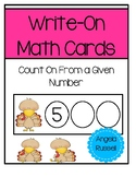 Write-On Math Cards K.CC.A.2 - Thanksgiving