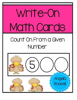 Write-On Math Cards K.CC.A.2 - Thanksgiving
