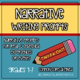 Narrative Writing Prompts for Real & Imagined Events Grades 4-7