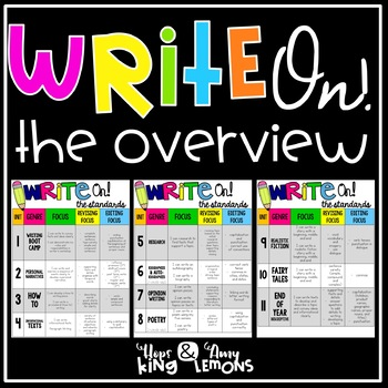 Write On!  Overview and Standards