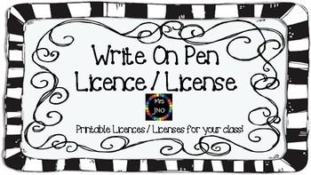 Write On Pen Licences Licenses