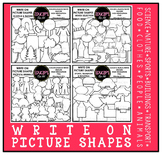 Write On Picture Shapes Clip Art Bundle {Educlips Clipart}