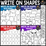 Write On Picture Shapes Clip Art Variety Bundle {Educlips Clipart}