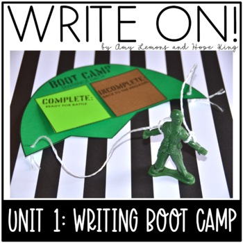 Write On! Unit 1: Boot Camp (Back to School Writing Lessons for 2/3 Grades)