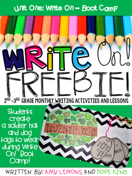 Write On! Unit 1 - Boot Camp FREEBIE!