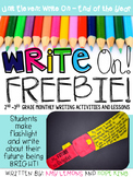 Write On! Unit 11- My Future is Bright FREEBIE