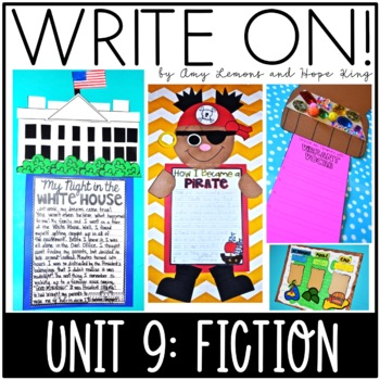 Write On! Unit 9: Fiction {Monthly Writing Activities/Lessons for Grades 2 & 3}
