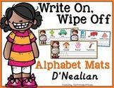 Write On, Wipe Off Alphabet Mats {Handwriting Practice} D'Nealian Edition