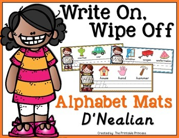 Write On, Wipe Off Alphabet Mats {Handwriting Practice} D'