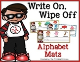 Alphabet Handwriting Mats {Write and Wipe}